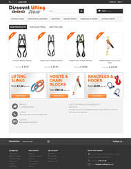 Screenshot of Web Design for Discount Lifting Store